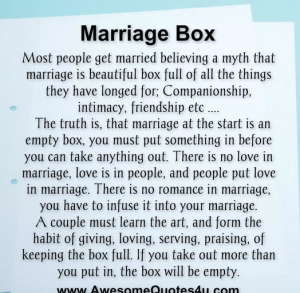 Marriage box