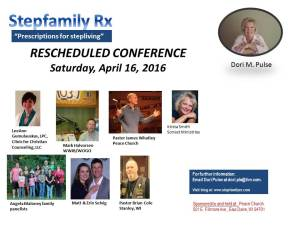 2016 Stepfamily Rx Conference_April
