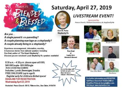 2019 StepRx BlendedBlessed livestream flyer